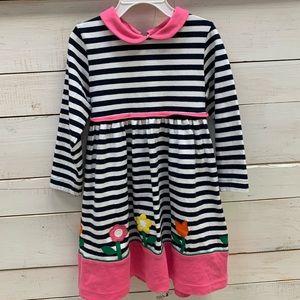Florence Eiseman Girls Stripe Applique Dress 5